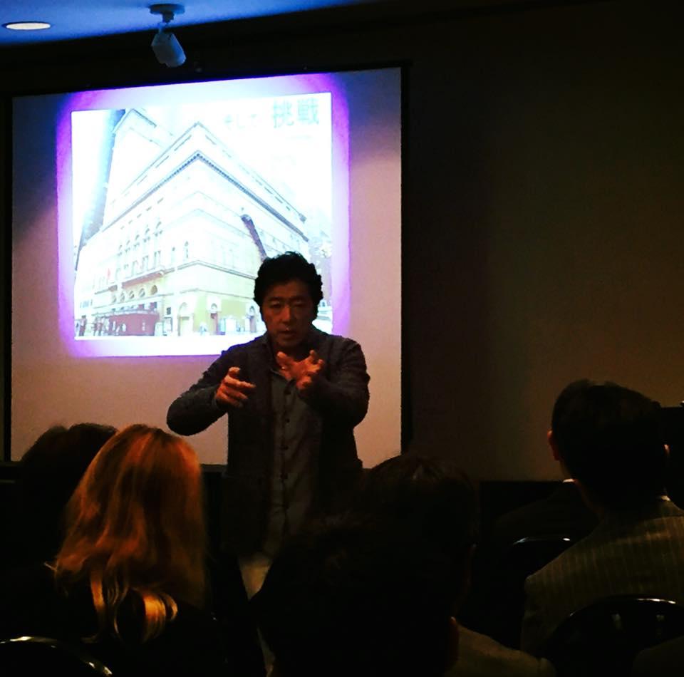 小栗成男氏著書『オグリズム』出版記念講演会『私と同志社、そして挑戦!』写真2