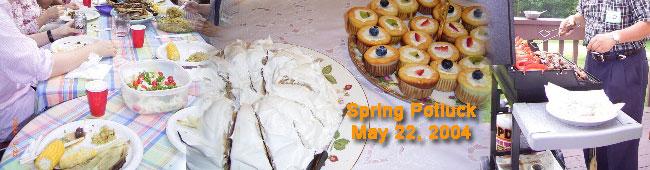 春のポトラック(料理の持ち寄りパーティー)